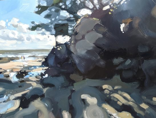 Plage de la Joseliere 46 x 61cm oil on board