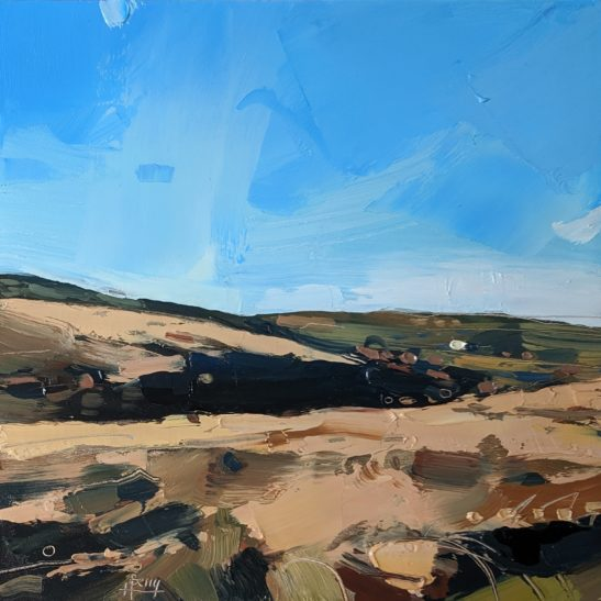 Portford Water Exmoor 20 x 20 cm oil on board