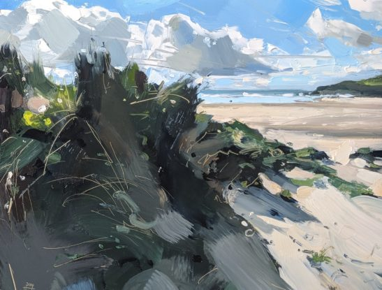 Saunton 22 x 30 cm oil on board