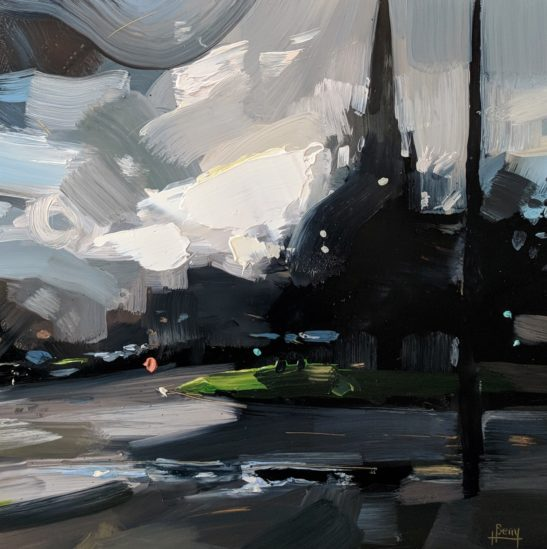 St. Mary Redcliffe Church Bristol 20 x 20 cm oil on board