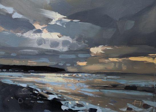 Stormy Study of Westward Ho 22 x 30 cm oil on board