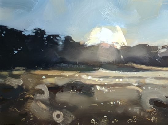 Sunrise at Domaine du Collet 22 x 30 cm oil on board
