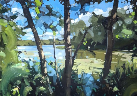 UEA Broad 100 x70 cm oil on board