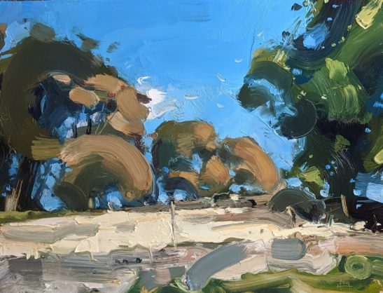 Wincle 22 x 30 cm oil on board