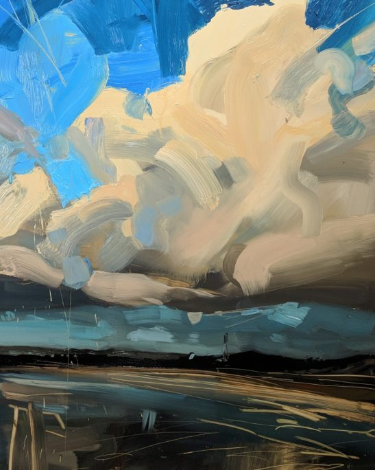 Windy Evening Instow 46 x 61 cm oil on board
