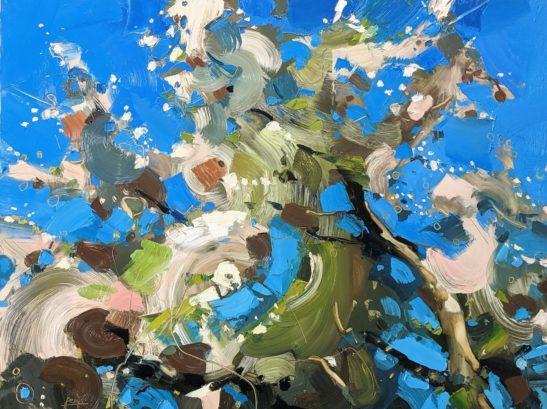 Blossom 46 x 61 cm oil on board