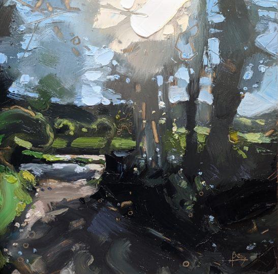 Codden Hill Cross 20 x 20 cm oil on board