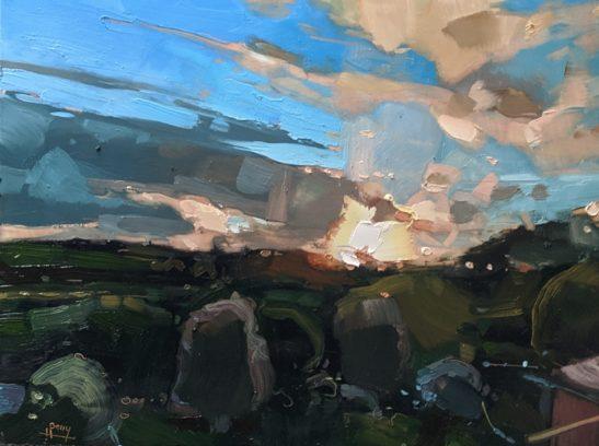 Landscape from my window 22x30cm oil on board