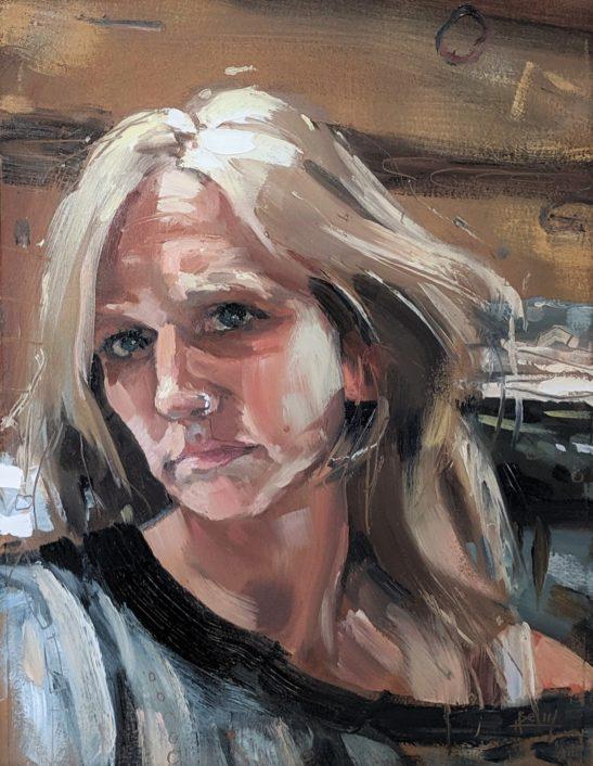 Self Portrait 20 x 29 cm oil on paper