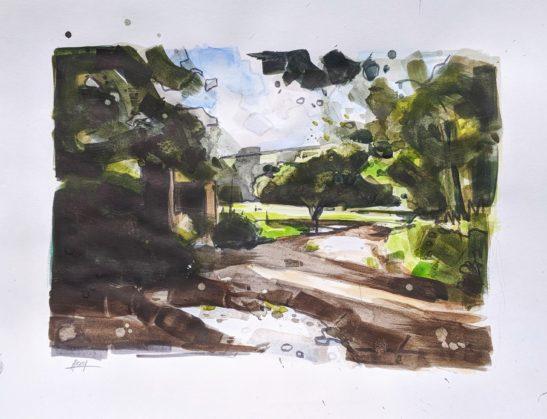 Mannings Pit 42 x 29 cm watercolour