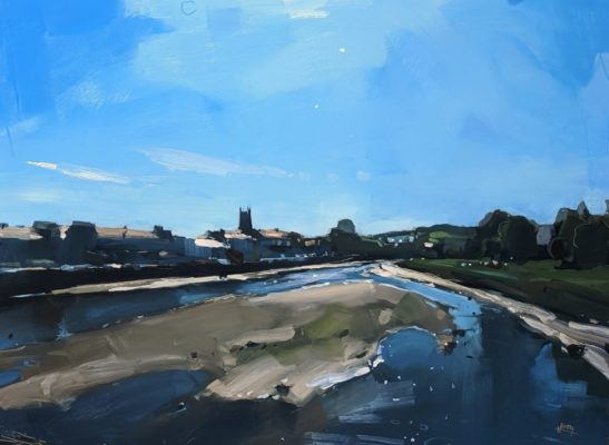 River Taw 46 x 61 cm oil on board