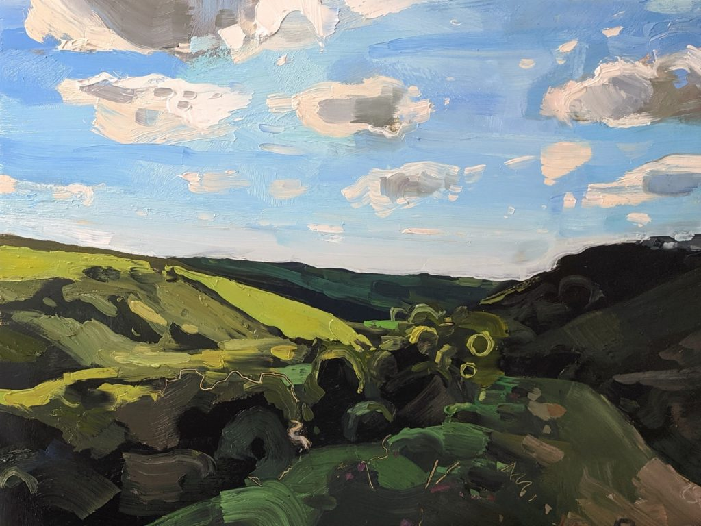 Robbers Bridge Exmoor 22 x 30 cm oil on board