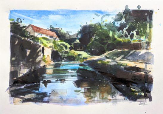 Venn Water 21 x 29 cm watercolour