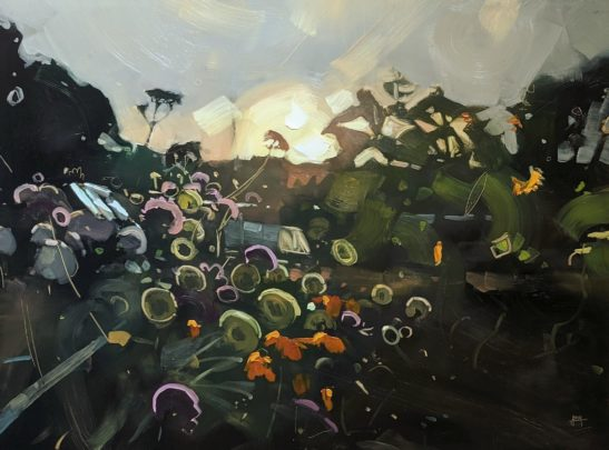 Garden 46 x 61 cm oil on board