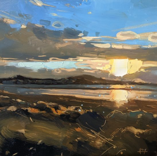 Instow 20 x 20cm oil on board