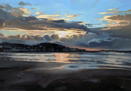 Instow Sunset 100 x 70 cm oil on board