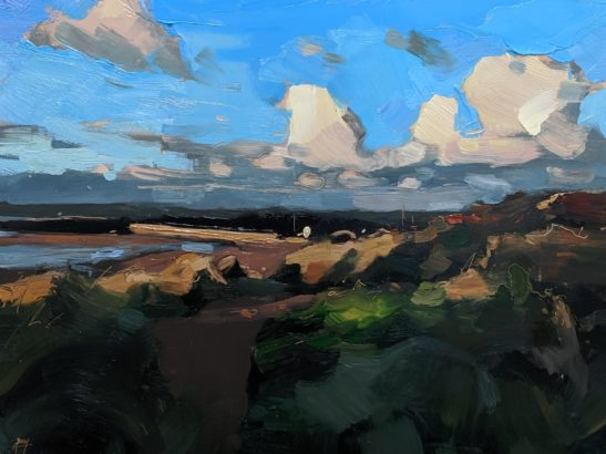 Instow after a Storm 22 x 30 cm oil on board