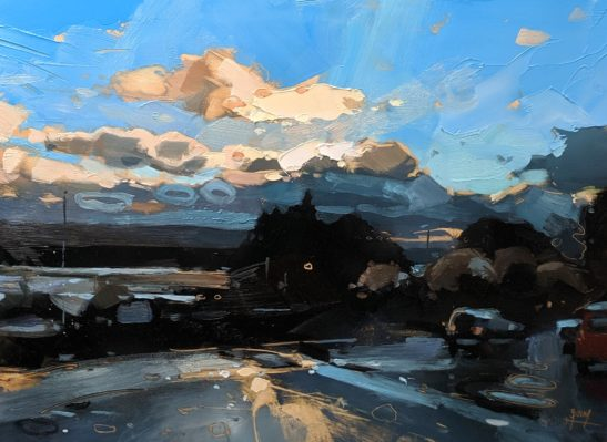 After a hailstorm 22 x 20 cm oil on board