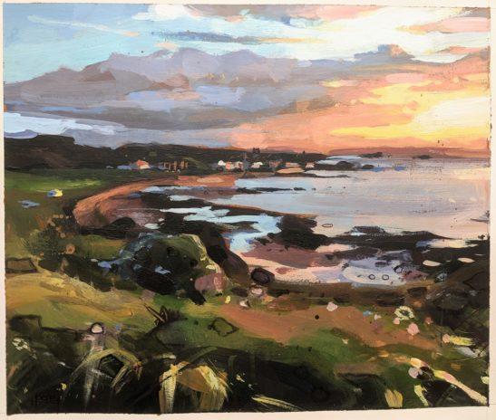 North Berwick 16 x 11 cm acrylic on paper