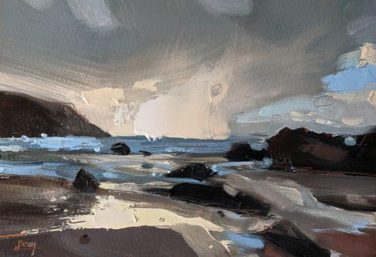 Putsborough16.5 x 11.5 cm oil on paper