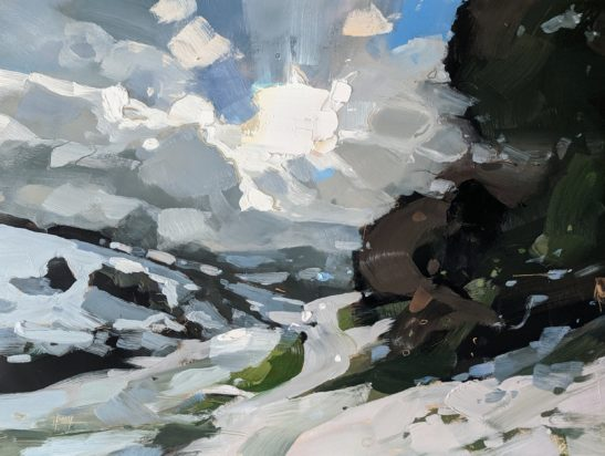 Snow Clouds 22 x 30 cm oil on board