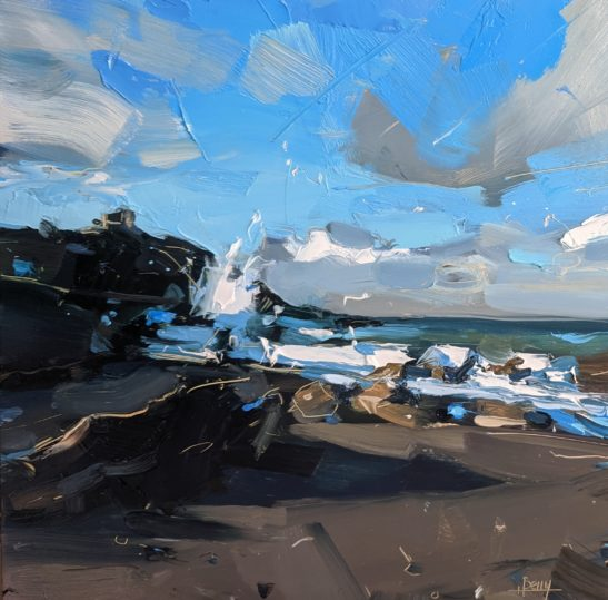 Wilders Mouth Beach 20 x 20 cm oil on board