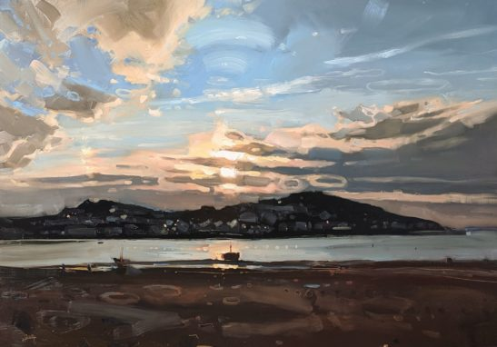 Cold Spring Evening Instow 70 x 100 cm oil on board
