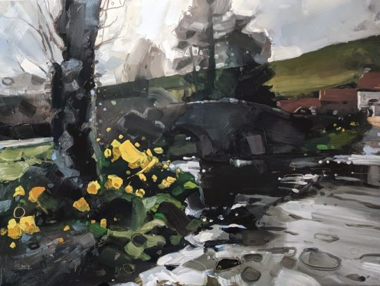 Daffodils Malmsmeade 46 x 61 cm oil on board