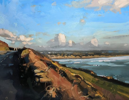Saunton 46 x 61 cm oil on board