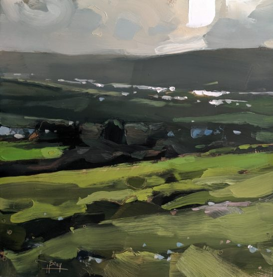 Taw Valley 20 x 20 cm oil on board